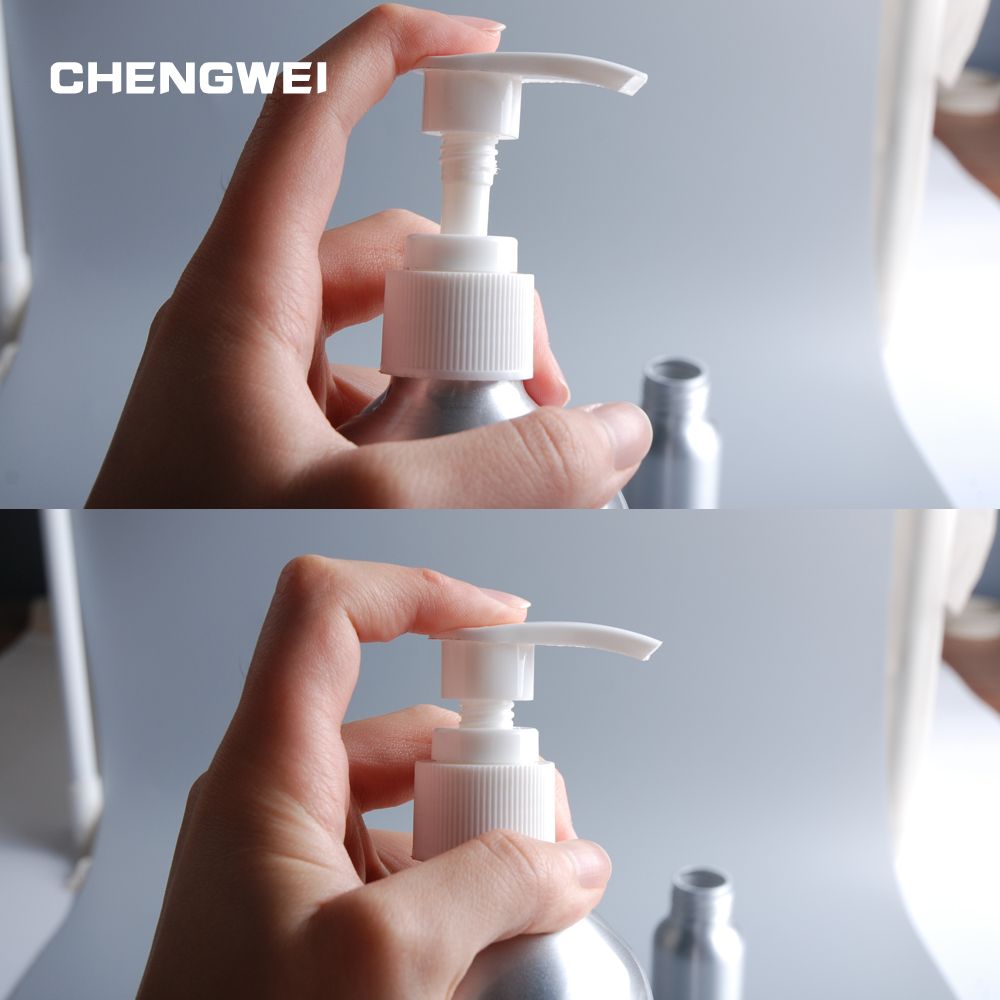 CHENGWEI 500ml High-Capacity Empty Shampoo Bottle Press Pump Refillable Shower Gel Metal Container For Cleanser Cosmetic clear pet packaging bottles with lotion cream pump refillable empty cosmetic containers 1000ml pet shampoo shower gel bottle