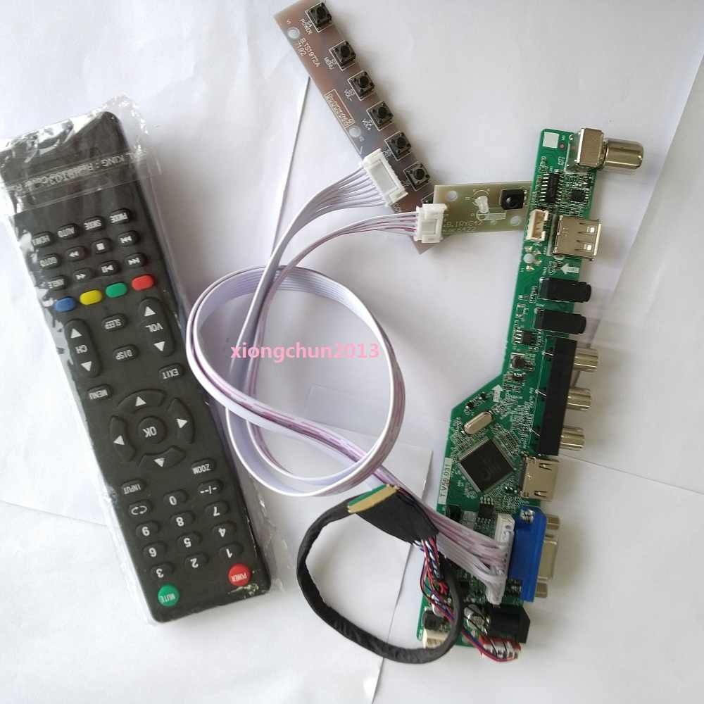 "Kit Voor LTN173KT01 Panel Led Controller Driver Board Lcd 1600X900 17.3 ""Usb Hdmi Av Vga Remote 40pin Lvds Tv screen"