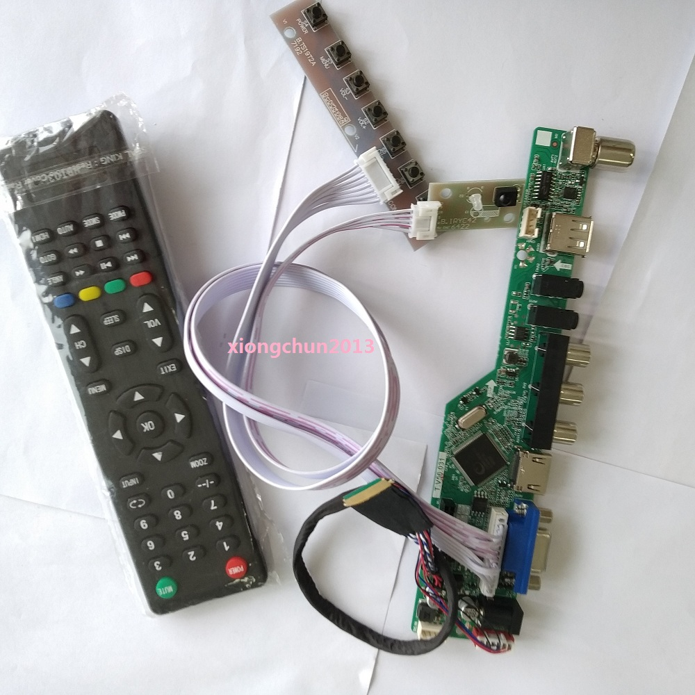 2019 Kit For LTN173KT01 Panel LED Controller Driver Board LCD 1600X900 17.3