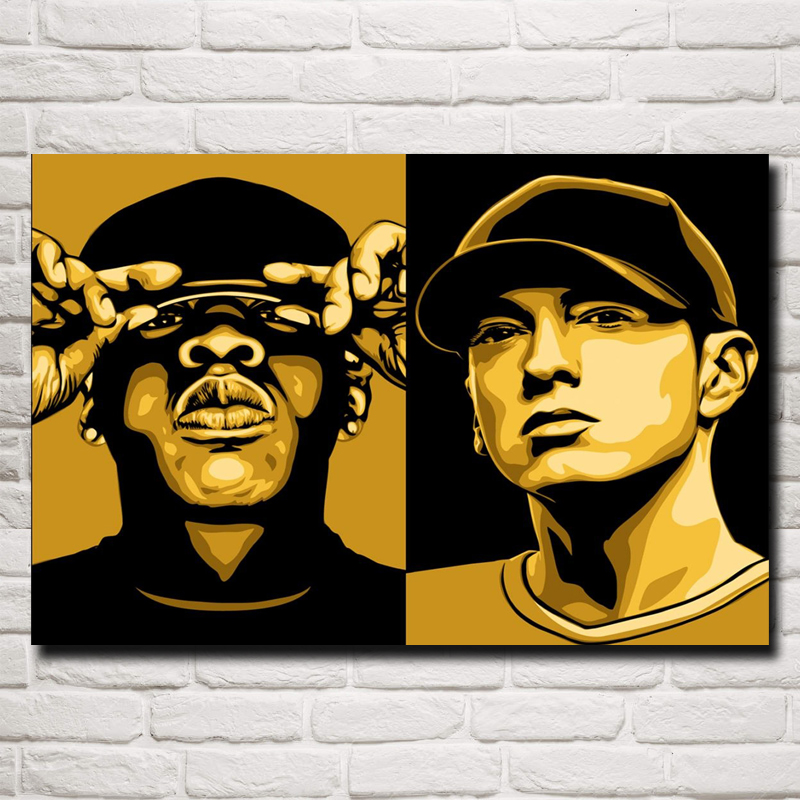 Fashion Design Murale Eminem Rapper Vinyl Wall Art Stickers Per Ragazzi Camera Da Letto Room