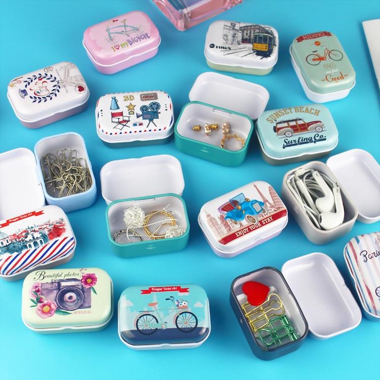 Tin-Box Needle Jewelry House-Decoration Collectables-Display Mermaid Small Cartoon Alpaca