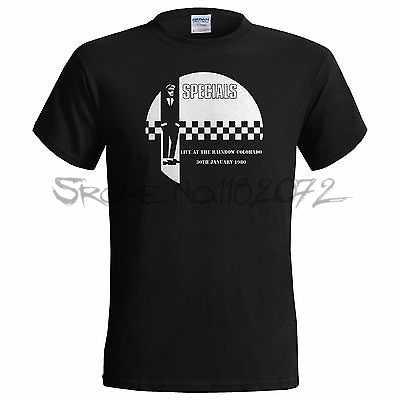 De Specials Regenboog Club Colorado Gig 1980 Mens T Shirt 2 Tone Ska Madness