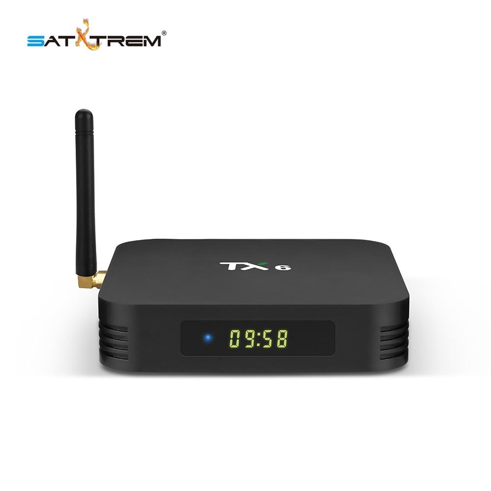 Tanix TX6 caja de TV inteligente Android 9,0 4 K IPTV 4 GB DDR3 32 GB EMMC BT 5,0 soporte Dual wifi 2,4G/5 GHz Youtube H.265 Set Top Box - 4