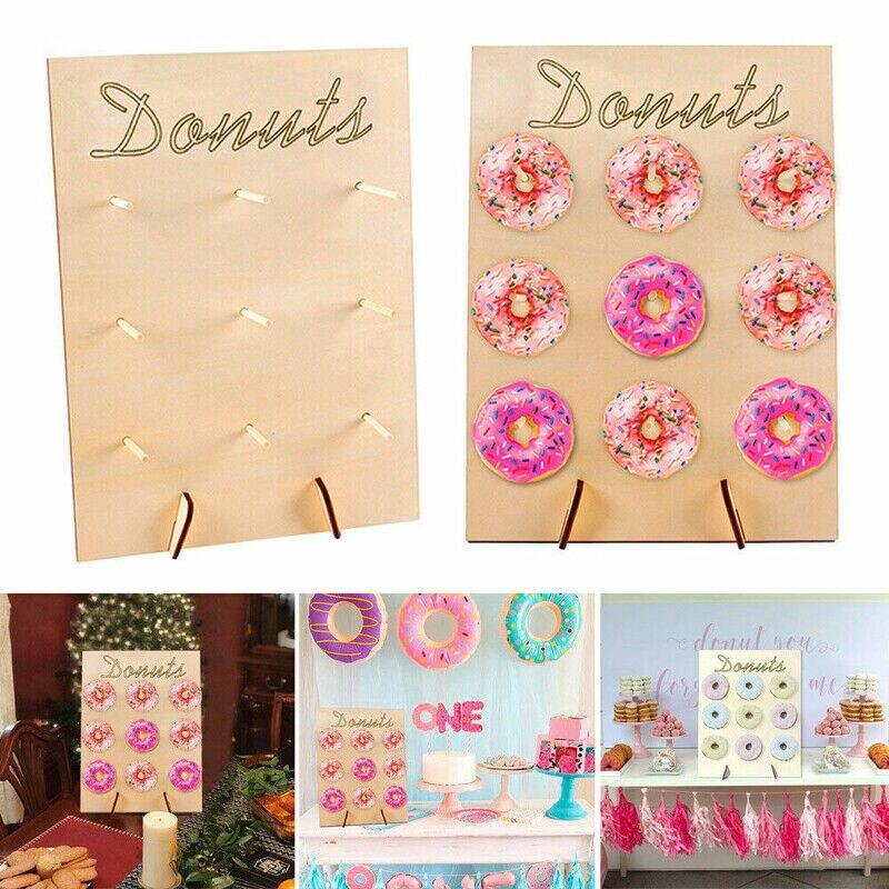 Nuevo soporte de pared de Donut cumpleaños fiesta de boda favorito Donut dulce carro tratar soporte alta calidad pared arte signos