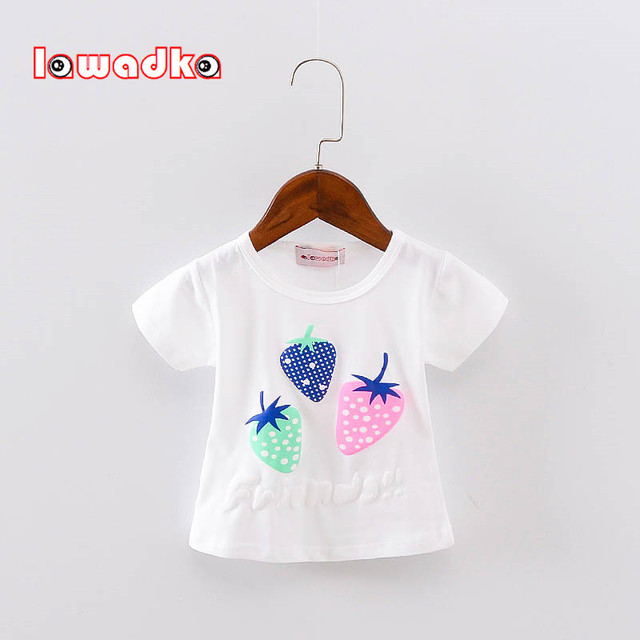 Short Sleeve Strawberry Patterned baby clothing
