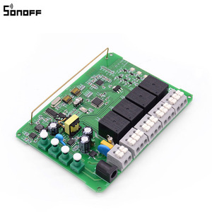 Image 5 - Sonoff 4CH Pro R2 inteligentny włącznik światła wi fi 4 Gang, 3 tryby pracy Inching blokada samoblokujący przełącznik RF/Wifi współpracuje z Alexa