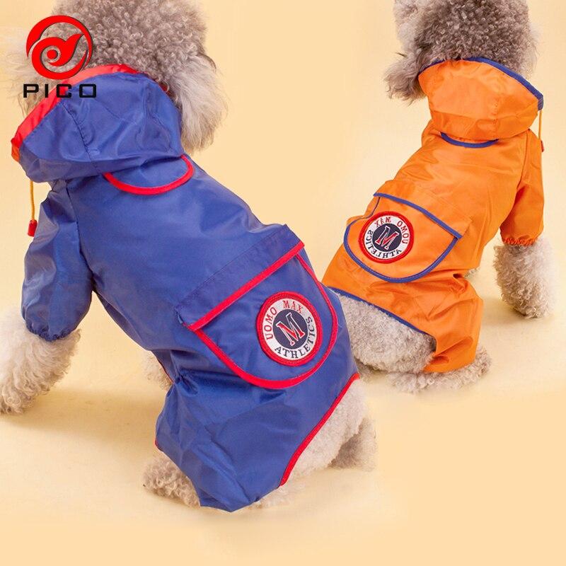 2018 Nuovo Grande Impermeabile Del Cane Pet Impermeabile Vestiti Del Cucciolo Pioggia Giacca Tuta Animali Ombrello Formato S-xxl Zl258