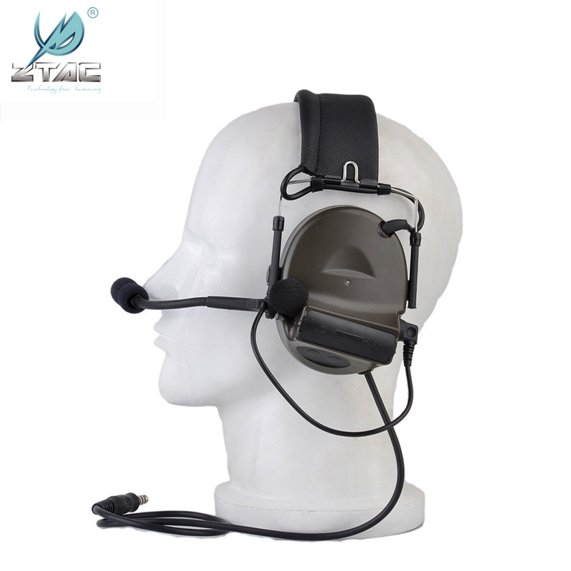 Image 5 - Z tactical Softair Comtac 2/II Peltor Noise Canceling Airsoftsports Headset Z041(FG) With Military Version U94 midland PTT Z113-in Tactical Headsets & Accessories from Sports & Entertainment