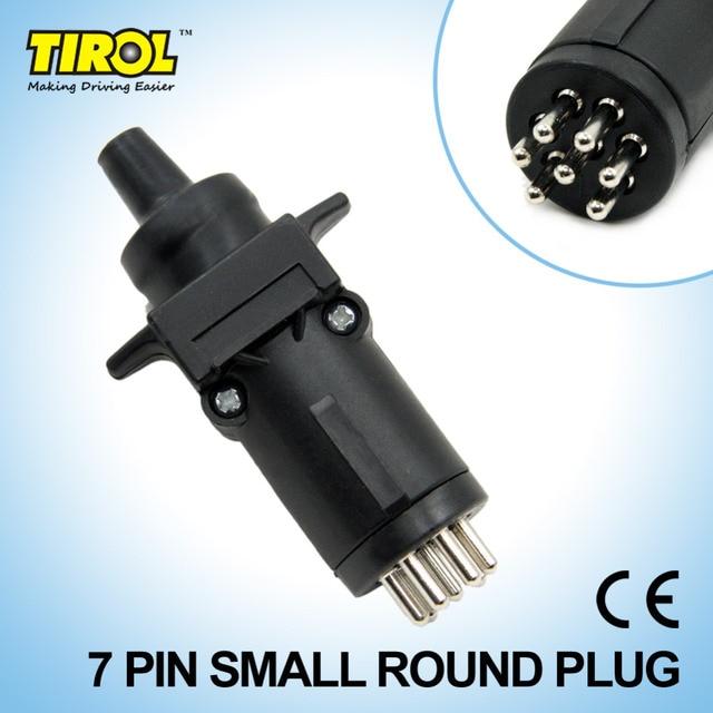 TIROL T21227b 7 Pin Trailer Plug Trailer Light Connector 12V 7 Way ...