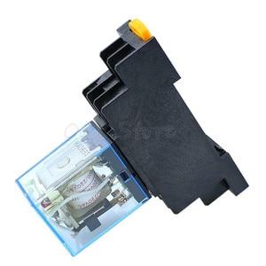Image 4 - 10 stks MY2P HH52P MY2NJ 12 v 24 v DC/110 v 220 v AC coil algemene doel DPDT micro mini relais met socket base