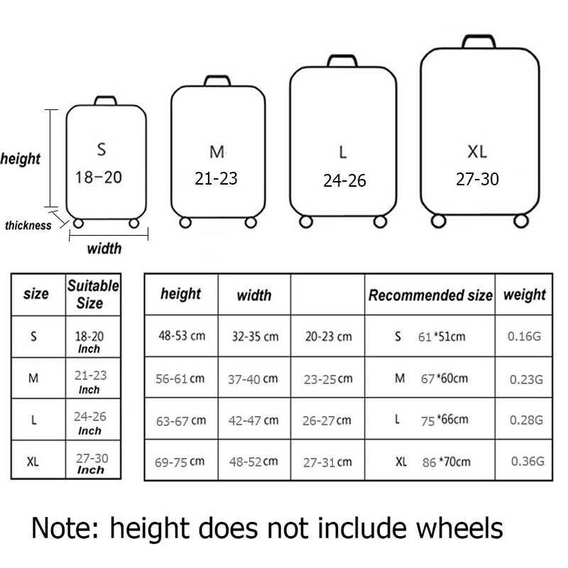 Эластичный Защитный чехол для багажа аксессуары для чемоданов Дорожный чемодан-тележка пылезащитный чехол для багажа 18-30 дюймов Чехол для багажа