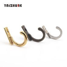 Kunci Mini Gantungan Baju, Gaya Antik Alloy Hook Furnitur Dekoratif Papan Kayu Dipasang Jubah Kait, 28*22 Mm, 40 PCS(China)