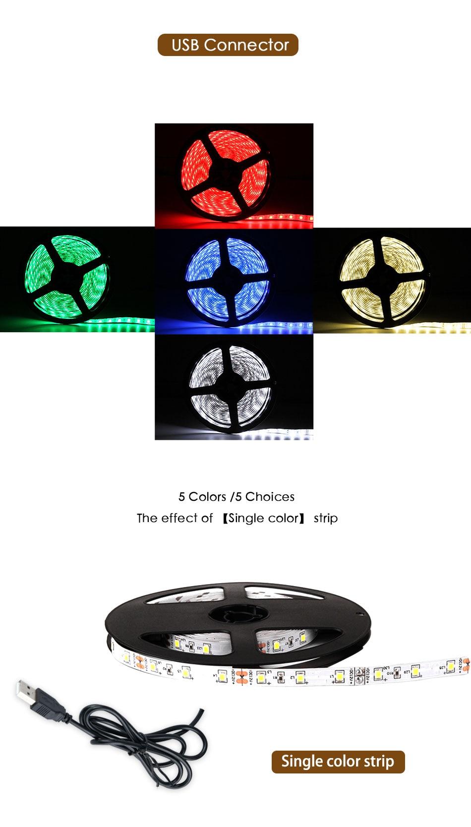 HTB1pFIATzDpK1RjSZFrq6y78VXaj DC 5V LED Strip 3Key USB Cable Power Flexible Light Lamp 50CM 1M 2M 3M 4M 5M SMD 2835 Desk Screen Tape TV Background Lighting