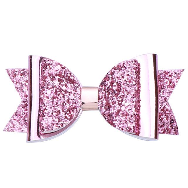 10 pcs. Assorted Multi Color Glitter Hair Bow Bundle Set