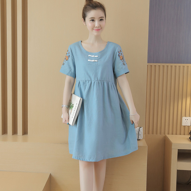 Fashion Maternity Clothing Plus Size Dress For Pregnant Women Casual Loose Maternity Dress Free Shipping