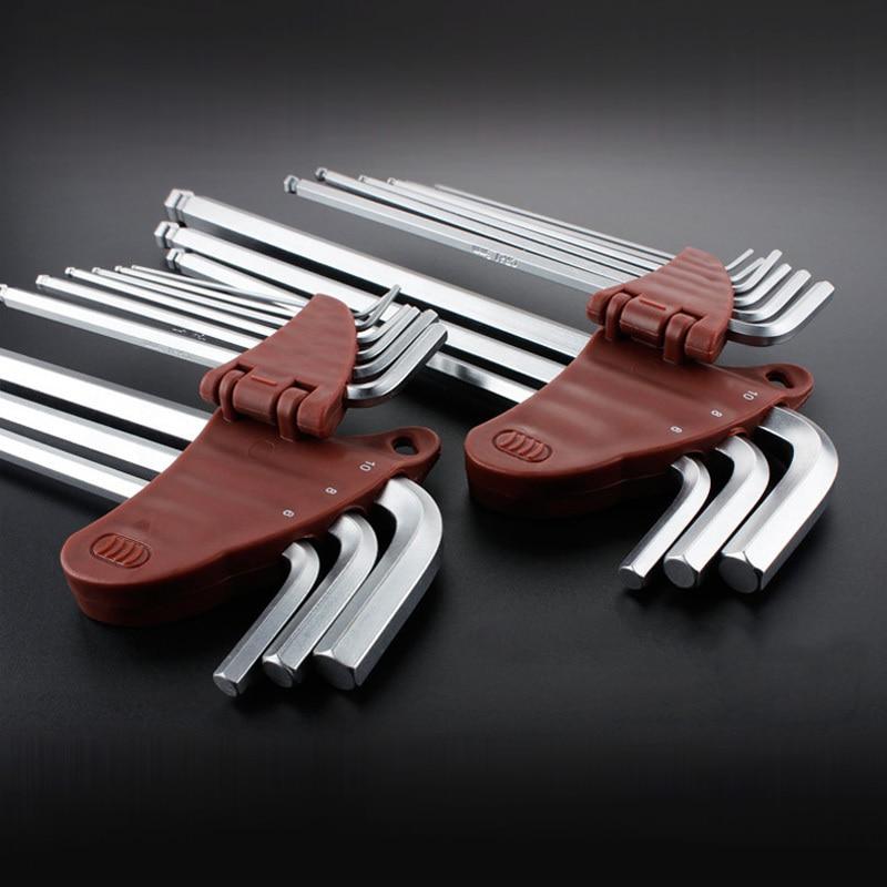Hand Tool Mini L-shape Wrench Double Head Socket Wrench Routine Screwdriver Jian