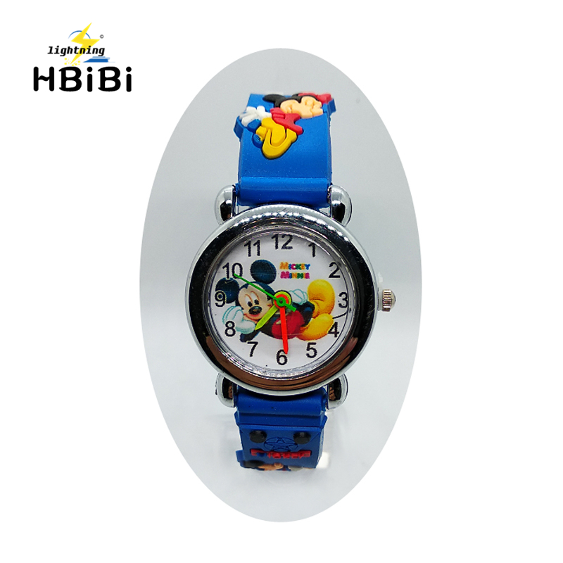 Cartoon Mickey Wach For Children Girls Boys Kids Watches Silicone Quartz Wristwatches Birthday Gift Students Clock Reloj Mujer