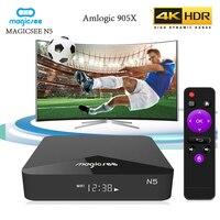 MAGICSEE N5 Amlogic S905X Smart TV Box 2.4G/5G dual wifi Android 7.1.2 set top box 2GB RAM 16GB ROM 100M BT4.1 Support 4K H.265