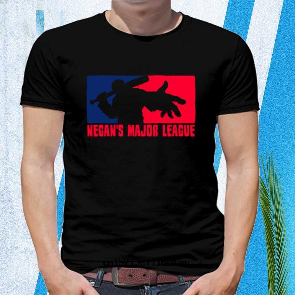 Забавные мужские футболки белые черные Negans Major League короткие с круглым вырезом