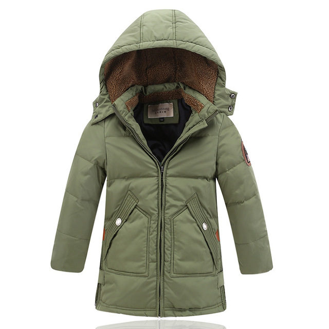 Lange Winterjas Zwart.90 Witte Eendendons Kinderen Bovenkleding Winterjassen Jassen