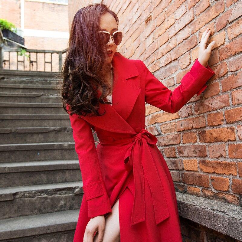 Pour Long Amples Dame Élégant Longue Survêtement Avec Ceinture Automne Hiver Femmes Yosimi Femelle Des Maxi Manteau Vêtements 2018 Tranchée La Sauvage 18A7wO7q