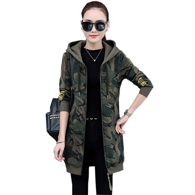 Camouflage Women Cotton Coats Fashion Long Thicken Warm Hooded   Parkas   Autumn Winter Female Casual Cotton Jackets FP1756