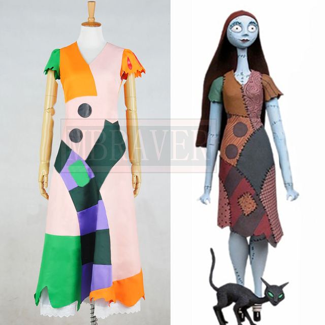 Us 82 0 The Nightmare Before Christmas Sally Cosplay Costume Dress Uniform Outfits Suit Halloween Party Custom Made Free Shipping On Aliexpress Com
