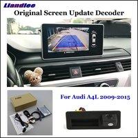 Liandlee For Audi A4 A4L (High) Car Original Screen Update System Rear Reverse Parking Camera Digital Decoder Display Plus