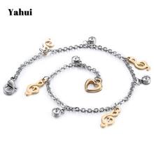 YaHui stainless steel gold bracelet charm bracelet gifts for