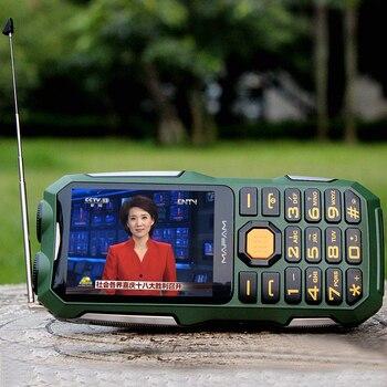 Mafam d2016 매직 음성 듀얼 손전등 fm 야외 shockproof mp3/mp4 전원 은행 안테나 아날로그 tv 견고한 휴대 전화 셀 p242