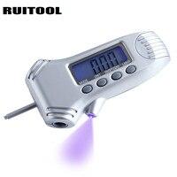 RUITOOL 0-100PSI LCD Digital Medidor de Presión de Neumáticos Manómetro Medidor de Profundidad de dibujo 0-22mm Instrumentos de Medición 3 en 1 para el Coche
