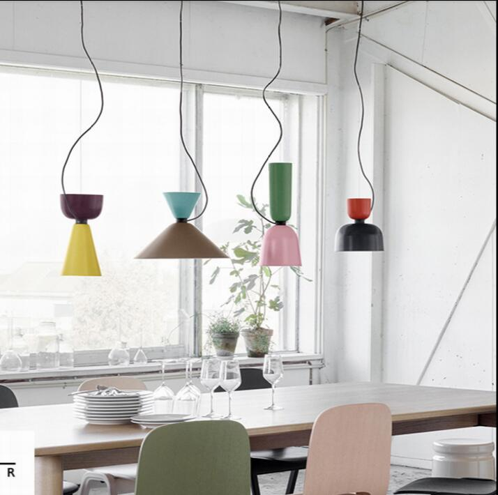 NEW DIY Colorful simple design can be customized E27 Pendant Light Suspension Drop Lamp Modern Bulbs Bar Restaurant Pendant Lamp