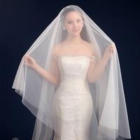 Wedding veil 2017 solid color bride wedding dress soft yarn 3 meters long trailing wedding accessories.jpg 200x200