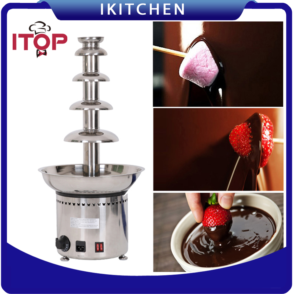 ITOP DHC5F 5-layer Chocolate Fountain Electric Melting and Warming Machine Suitable for Banquet Party Feast 110V/220V/240V