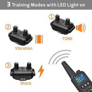 Image 4 - 800m elektryczna obroża do szkolenia psa z wyświetlaczem LCD Pet zdalnie sterowana wodoodporna obroża akumulatorowa do wibracji wstrząsów
