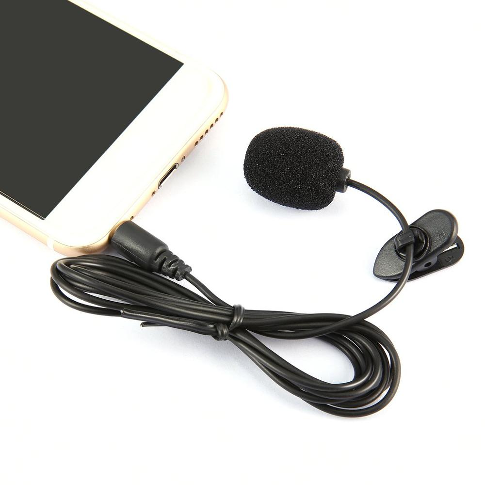 Portable External 3.5mm Lavalier Microphone Hands-free Mini Wired Clip-on Lapel Lavalier Microphone For PC Laptop Wholesale