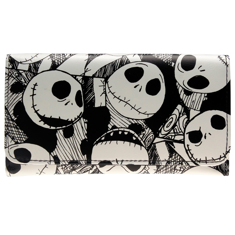 The Nightmare Before Christmas Jack Skellington Wallet DFT-6010 womens printed halloween leggings the nightmare before christmas cosplay leggin jack and sally slim design workout girls pants