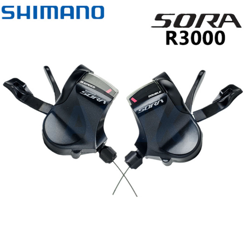 Shimano SORA SL R3000 Flat Bar Shifter Lever 2x9 speed 2 Way Release R3000 Shifters Triggle