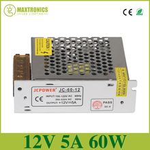 Best quality 12V 5A 60W Universal Regulated Switching Power Supply Transformer 5050 3528 110~220V,output DC 12V