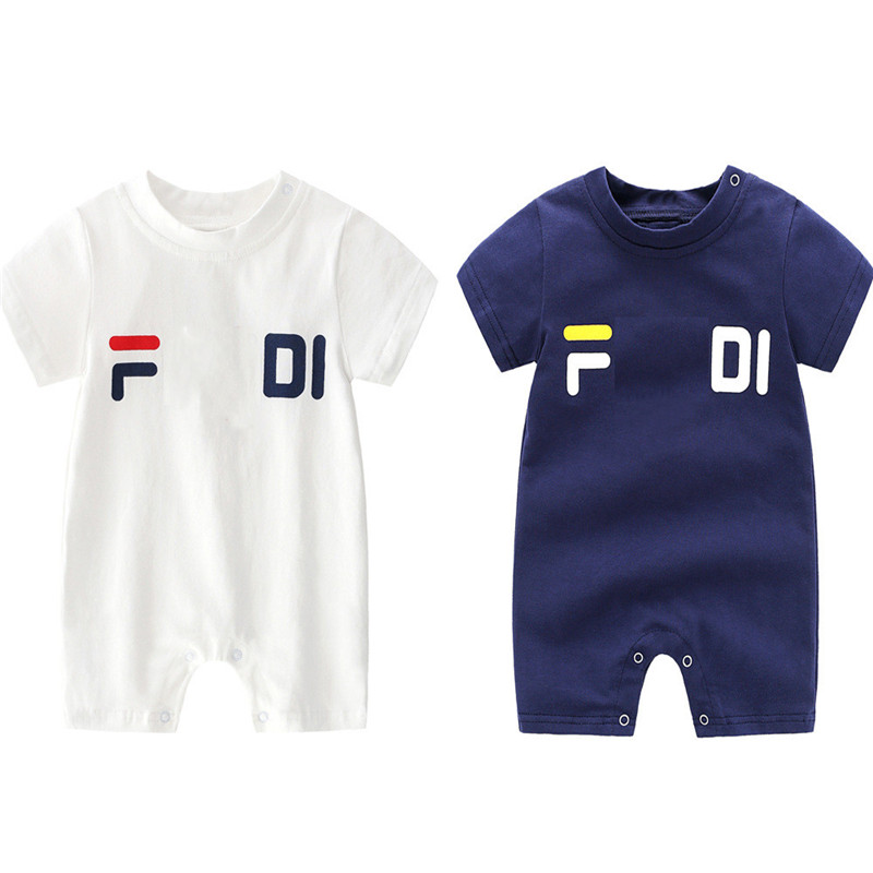 2019 Brand Summer Baby Boy Romper Short Sleeve Cotton Infant Jumpsuit Cartoon Printed Baby Girl Rompers Newborn Baby Clothes