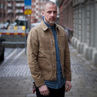 Paraffin Canvas New Autumn Military Jacket Men Bomber Vintage Male Casual Breasted Men'S Coat Jacket Ds5052