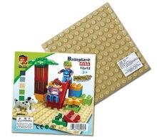 1pcs/lot Big Blocks Base Plate 19.2*19.2cm Baseplate 100% Duploe Kids Educational Brick Toys Blocks Plate(China (Mainland))