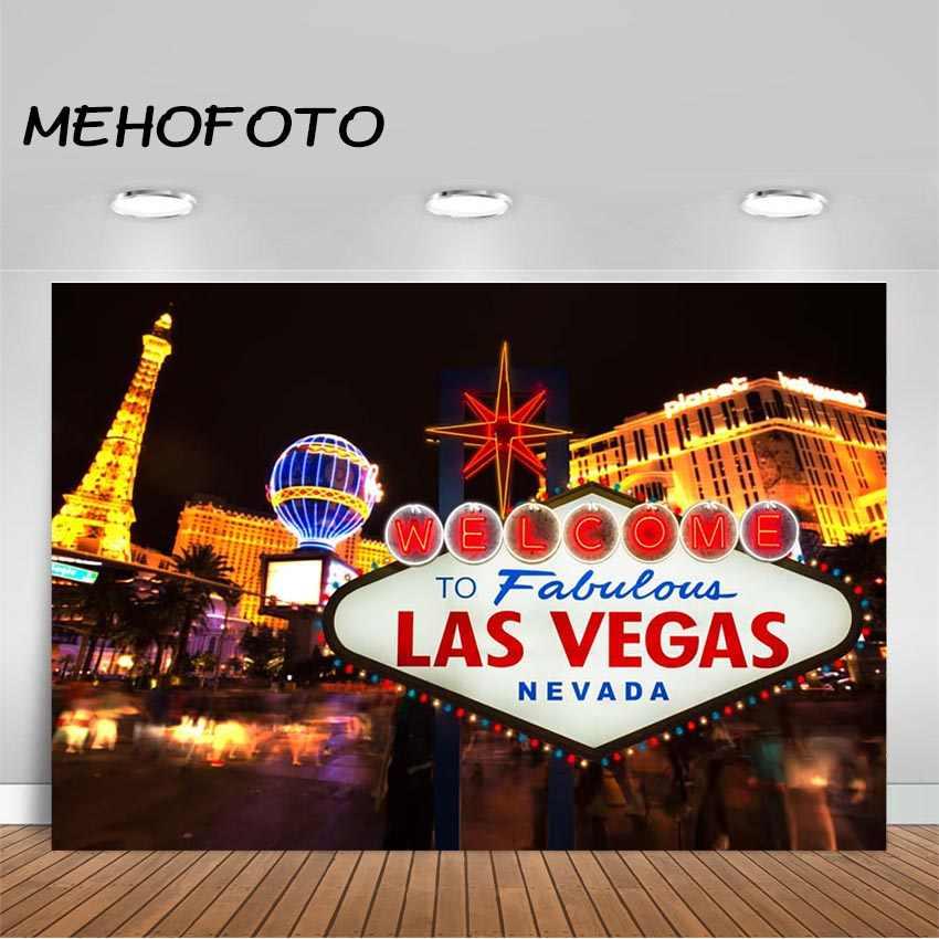MEHOFOTO Las Vegas zdjęcie tło miasto w nocy kasyno baner imprezowy fotografia tło dla dekoracja urodzinowa