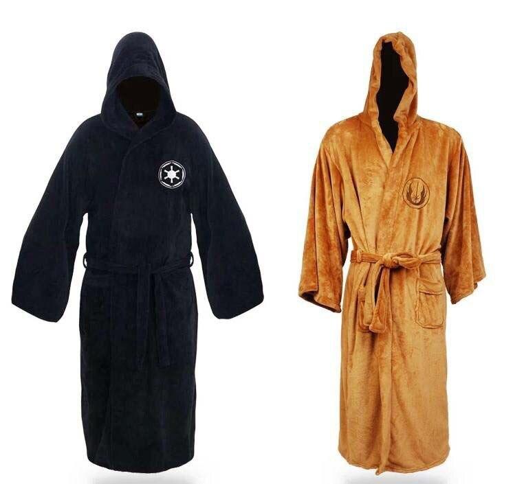 Movie Star Wars Darth Vader Cotton Terry Jedi Bathrobe for Men robe ...