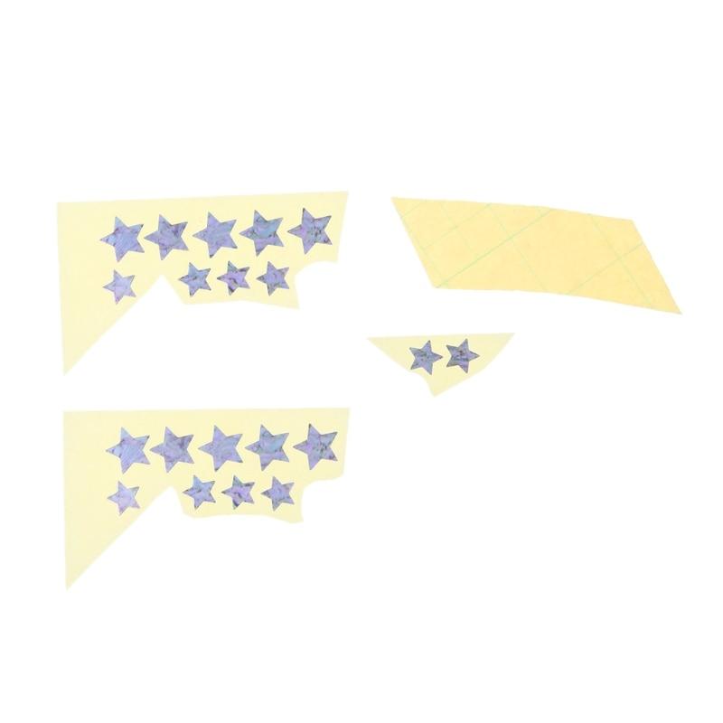 1pc Star Shape DIY Inlay Sticker Fretboard Marker Stick On Guitar Neck Bass Fret