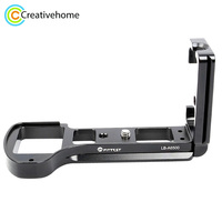 FITTEST LB A6500 Vertical Shoot Quick Release L Plate Bracket Base Holder for Sony ILCE 6500 (A6500) Camera Metal Ballhead