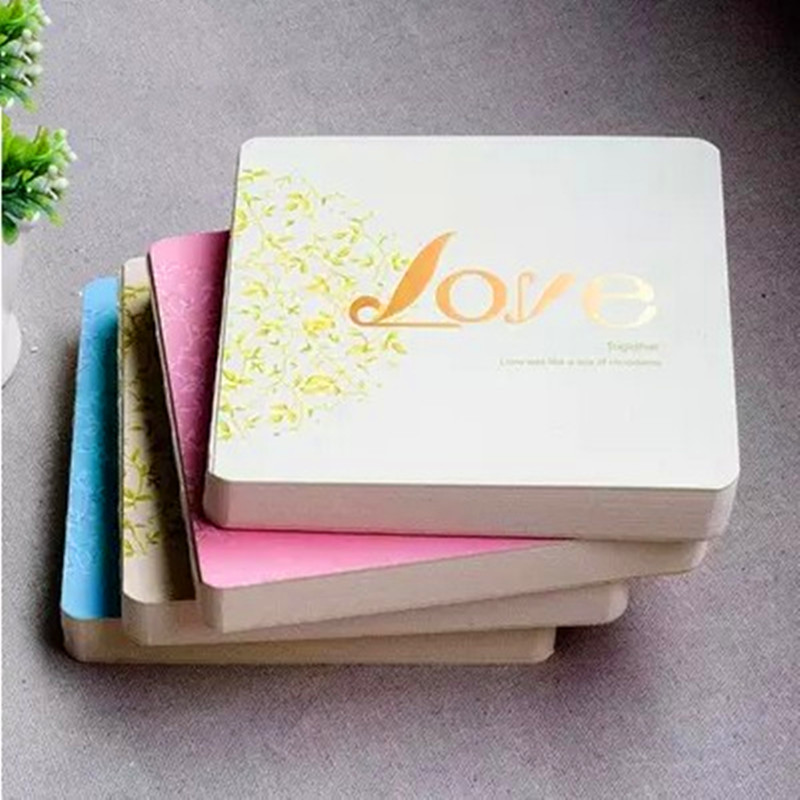 Hot Sale CREATIVE NOTE BOOK Square Tie Rope  Love Journey Couple Notepad Essay Love Diary