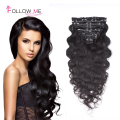 Brazilian Body Wave Clip in Hair Extensions Remy Clip in Body Wave Hair Extension Clip in Human Hair Extensions Body Wave