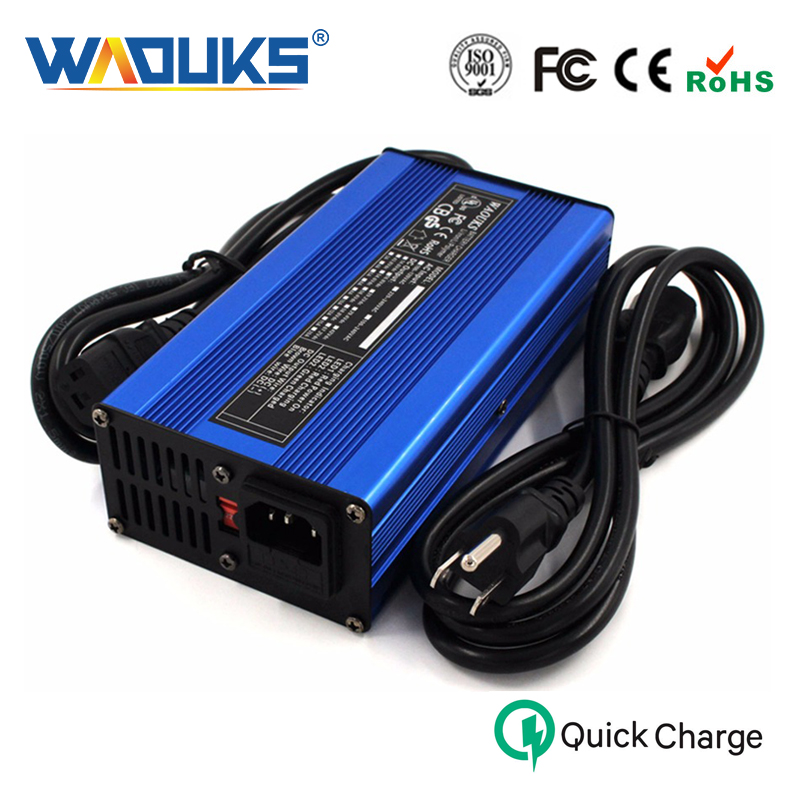 WAOUKS 63V 3A Charger 63V Li ion Battery Smart Charger for 15S 55 5V Li ion