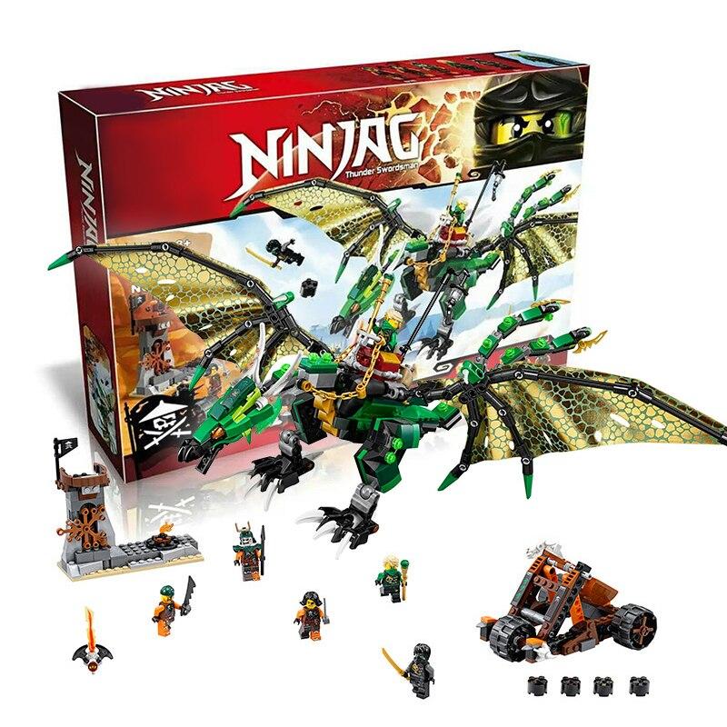 Bela 10526  The Green NRG Dragon building Blocks Brick castle New year Gift Toys for children Decool Lepin 70593 chiaro паула 4 411011706